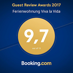 Guest Review Award 2017 - booking.com